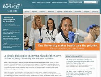Thumbshot of Westcoastuniversity.edu