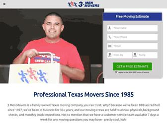 3menmovers.com screenshot