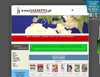 Main page screenshot of gazzetta.pl