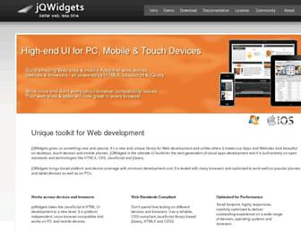 jqwidgets.com screenshot