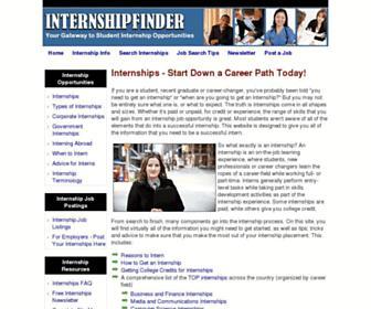 internshipfinder.com screenshot