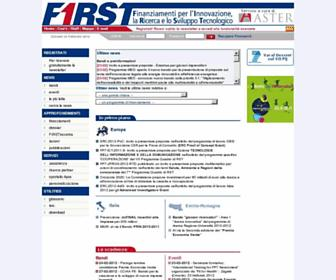 Main page screenshot of first.aster.it