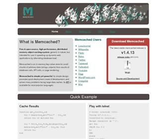 Thumbshot of Memcached.org