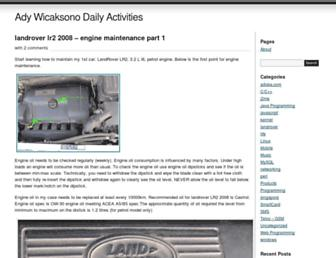 adywicaksono.wordpress.com screenshot