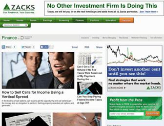 finance.zacks.com screenshot
