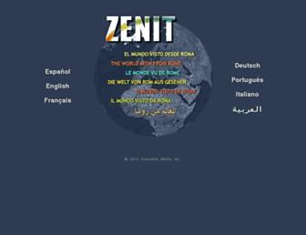 Main page screenshot of zenit.org