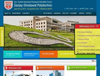 sgipolytechnic.in screenshot