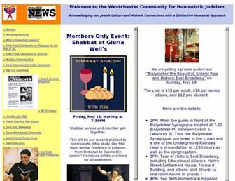 Main page screenshot of wchj.org