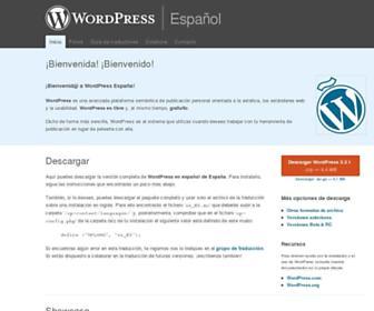 es.wordpress.org screenshot