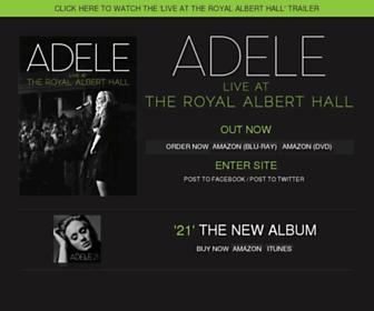 Main page screenshot of adele.tv