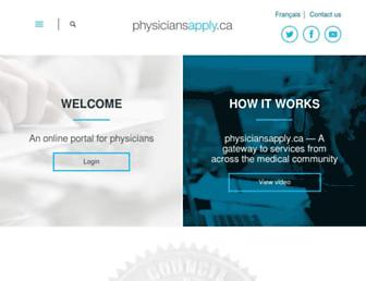 Thumbshot of Physiciansapply.ca