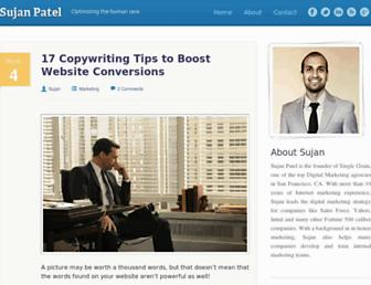 sujanpatel.com screenshot