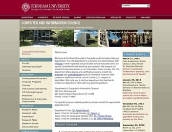 storm.cis.fordham.edu screenshot