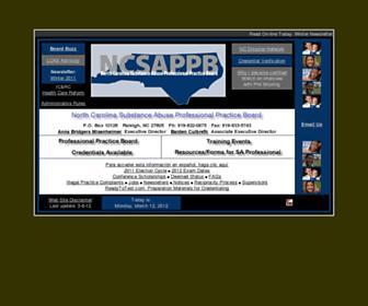 Main page screenshot of ncsappb.org