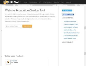 urlvoid.com screenshot