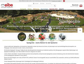 Main page screenshot of eibe.at