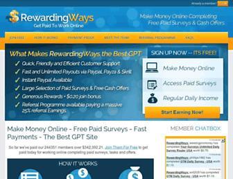 Thumbshot of Rewardingways.com