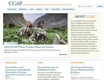Main page screenshot of cgap.org