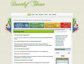 Main page screenshot of smfdesign.net
