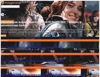 Main page screenshot of polygamia.pl