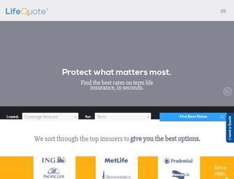 lifequote.com screenshot
