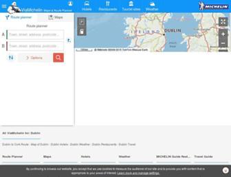 viamichelin.ie screenshot