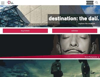 Main page screenshot of thedali.org