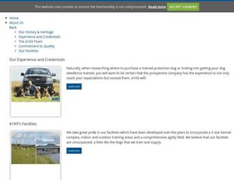 Main page screenshot of a1k9.co.uk