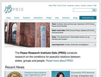 Main page screenshot of prio.org