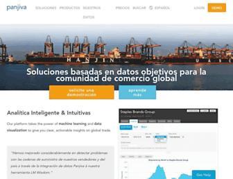 es.panjiva.com screenshot