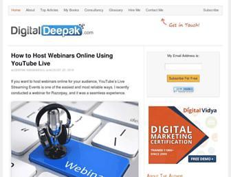 digitaldeepak.com screenshot