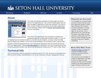 pirate.shu.edu screenshot