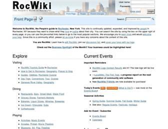 Main page screenshot of rocwiki.org
