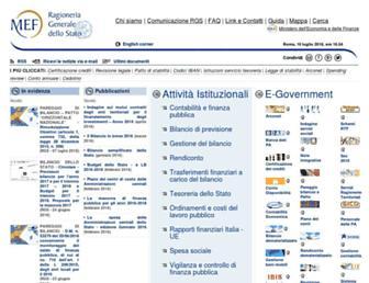 Main page screenshot of rgs.mef.gov.it