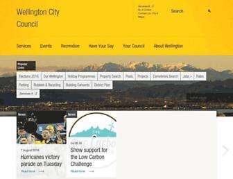 wellington.govt.nz screenshot