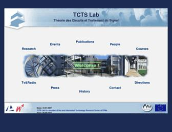 Main page screenshot of tcts.fpms.ac.be