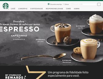 Main page screenshot of starbucks.com.br