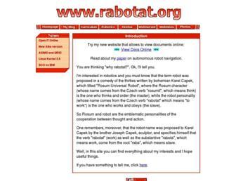 Main page screenshot of rabotat.org