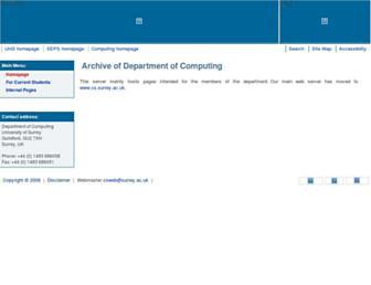 computing.surrey.ac.uk screenshot