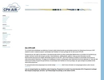 Main page screenshot of cphair.dk