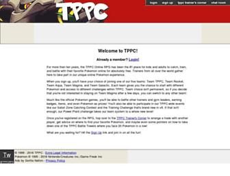 Main page screenshot of tppcrpg.net