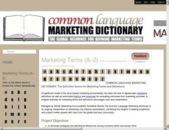 marketing-dictionary.org screenshot