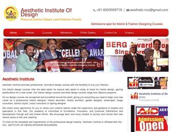 aestheticinstitute.co.in screenshot