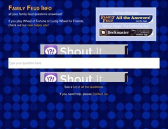 Thumbshot of Familyfeudinfo.com