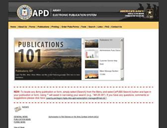 apd.army.mil screenshot