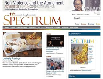 Main page screenshot of spectrummagazine.org