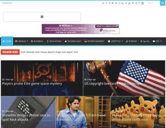 Main page screenshot of newspressrelease.net