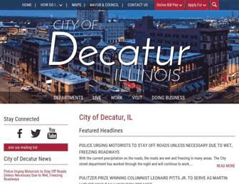 decaturil.gov screenshot