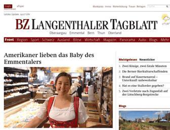 langenthalertagblatt.ch screenshot