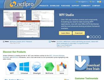 actiprosoftware.com screenshot